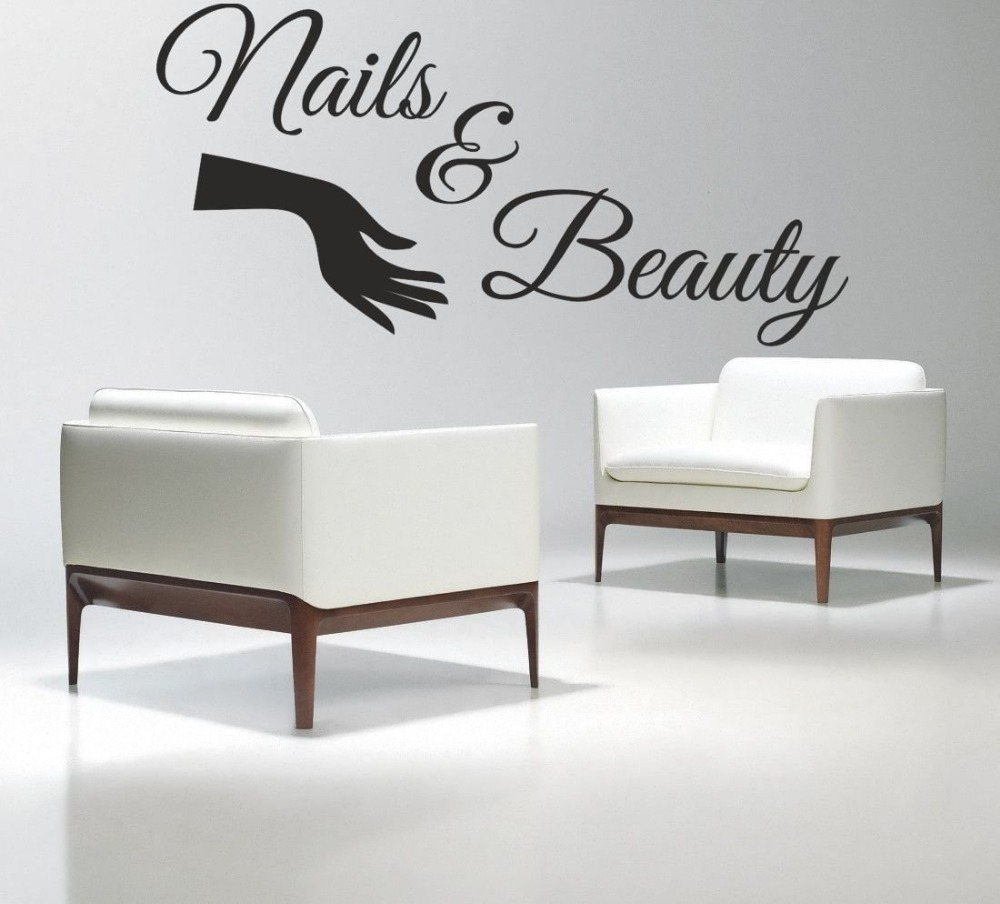 nail salon vinyl wall decal nails beauty salon varnish. Black Bedroom Furniture Sets. Home Design Ideas
