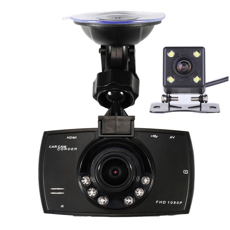 Купить Автомобильная Камера с Двумя Объективами 1080 P Видео Рекордер Автомобилей Видеорегистраторы Регистратор С WDR Спинку Заднего Камера Автомобиля Ночного Видения Черный Ящик Тире Cam G30
