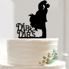 FREE SHIPPING+Mr Mrs Bride Groom Wedding Decorating Tool Cake Fondant Tool Kitchen Bakeware Accessories Fashion Cake Topper