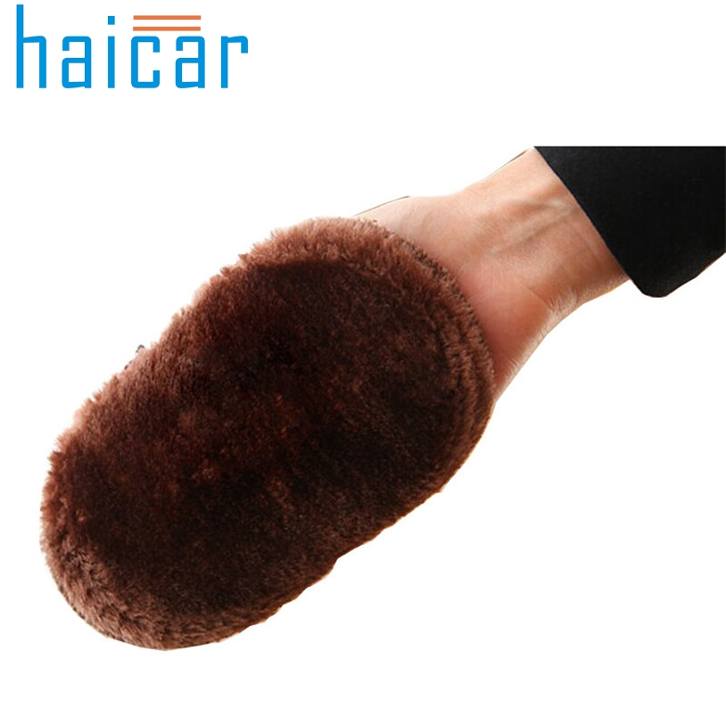 Haicar Shoe Brush Soft Faux Wool Cloth Shoes Polisher Cleaning Cleaner Glove Brush U61228(China (Mainland))