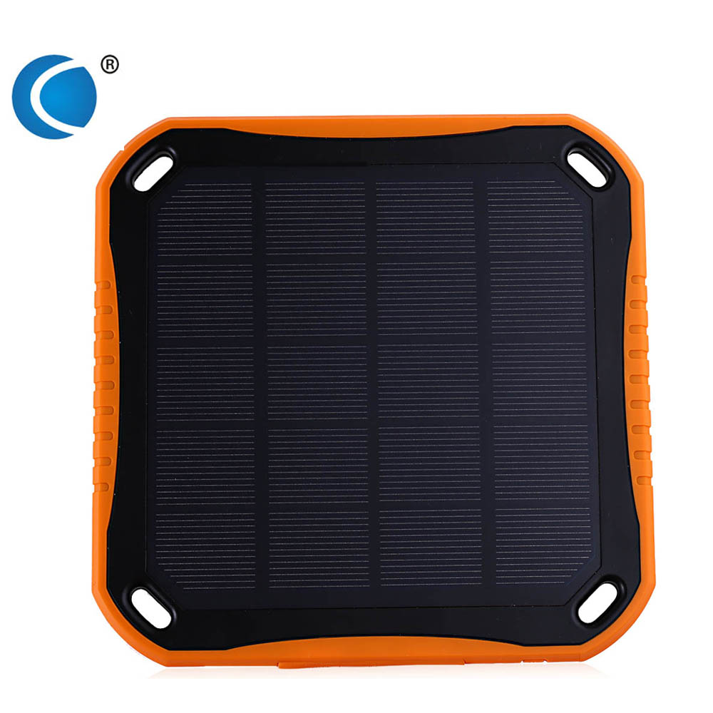 CHARMPIE S7 Lightweight 5600mAh Portable Power Bank Solar Panel Charger Dual USB Port 8 LED Light Waterproof Power Bank(China (Mainland))