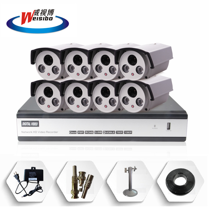 8 world premiere Monitoring Kit Kit A camera surveillance cameras eight packages(China (Mainland))
