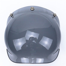 Free shipping bubble visor top quality open face motorcycle helmet visor 9 color available vintage helmet windshield shield(China (Mainland))