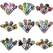 4pcs mix Harry Potter Minions Pet shop Elsa Bookmarks Paper Clips Office Supplies Stationery Party gifts(China (Mainland))