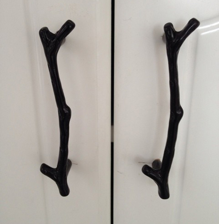 Retro Black Tree Branch Kitchen Cabinet Handle Wardrobe Door Pulls