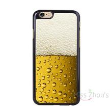 For iphone 4/4s 5/5s 5c SE 6/6s 7 plus ipod touch 4/5/6 back skins mobile cellphone cases cover A Glass of Beer Cool Summer