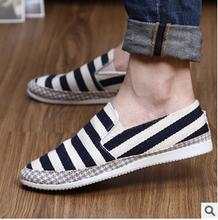 New style men s canvas shoes stripe rubber injection shoes shoes fashion shoes wear anti slip