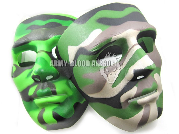 Camouflage Koei clone warrior mask (CP camouflage / jungle camouflage) free shipping(China (Mainland))