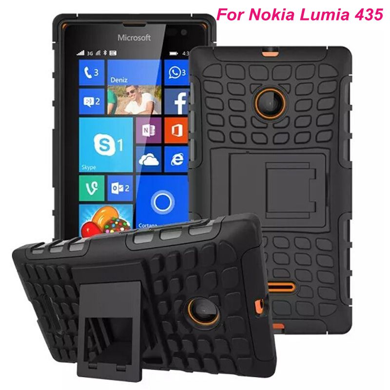 For Microsoft Nokia Lumia 535 Unique Grenade Grip Rugged Spider Hard Stand Phone Housing Shock Proof capa Shell Cover Case(China (Mainland))