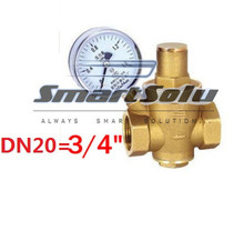 "3/4"" Brass DN20 water pressure regulator with pressure gauge,pressure maintaining valve,water pressure reducing valve prv(China (Mainland))"