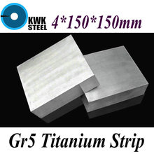 Buy 4*150*150mm Titanium Alloy Sheet UNS Gr5 TC4 BT6 TAP6400 Titanium Ti Plate Industry DIY Material Free for $42.50 in AliExpress store
