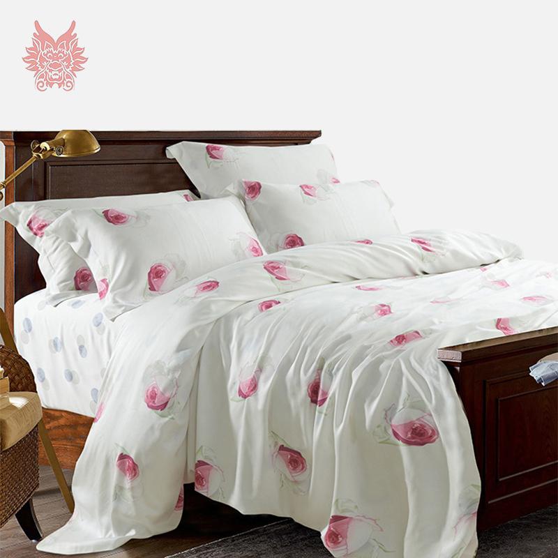 oreiller maison de la literie prev oreiller imiter violet soie ensemble de literie 4 pcs