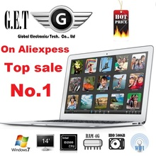 New  14 inch notebook computer Ultrabook laptop PC Highest resolution 1600*900 Windows8.1  Intel N2840 4GB DDR3 HDD(China (Mainland))
