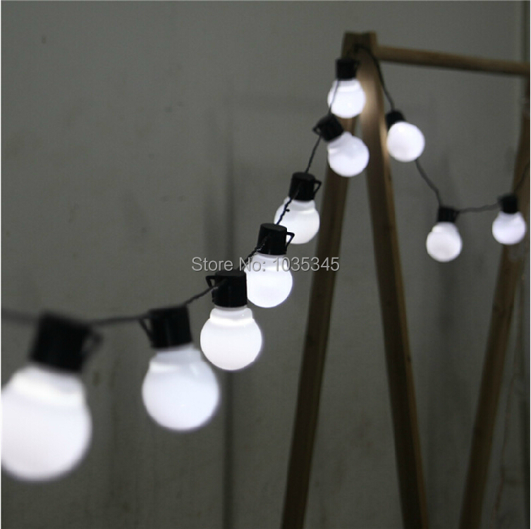 Novelty 5CM big size 38 ball 10M LED String Black wire LED Starry Lights Christmas Wedding indoor outdoor Decor String Lighting(China (Mainland))