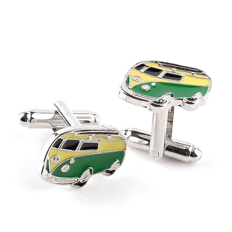 2016 High Quality Classic Creative Bus Cufflinks Simple Exquisite Male French shirt Cuff Links Send Her Boyfriend Gift(China (Mainland))