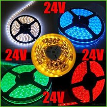 DC 24V 20X5M 60leds/M Waterproof 3528 SMD LEDs trip Light 5 colors for Choice(China (Mainland))