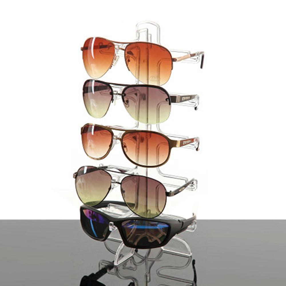 Eyeglasses display - Sunglasses Plastic Frame Display Stand 5 Layers 3 Colors Glasses Eyeglasses Colorful Eyewear Counter Show Stands
