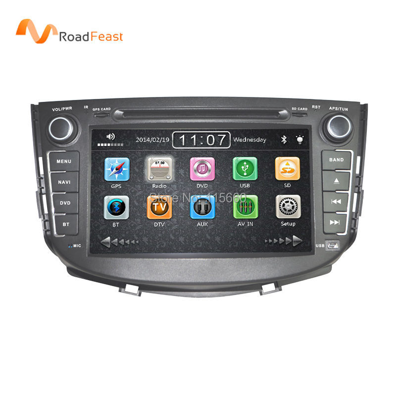 Car DVD Stereo Headunit Navigation For Lifan X60 new with GPS Bluetooth Ipod SWC 3G Wifi 1080P Russian language Free Map card(China (Mainland))