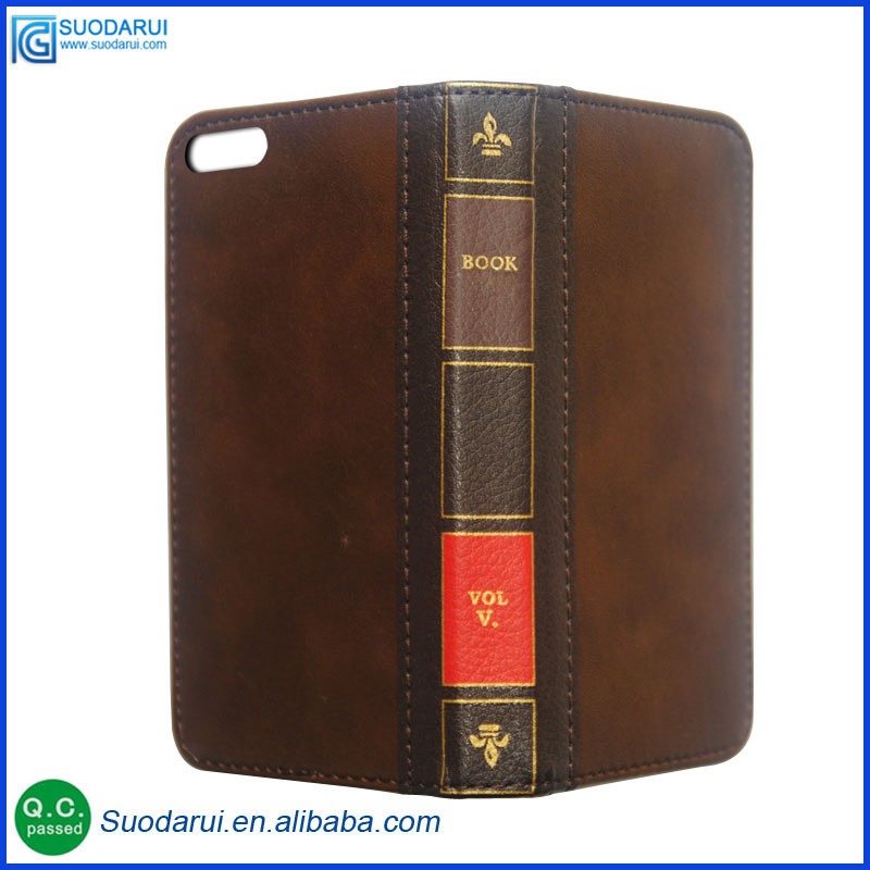 Retro Bible Vintage Flip Leather Phone Case cover For iphone 7 iphone 7 plus Book Wallet Pouch with Lcd Screen protector