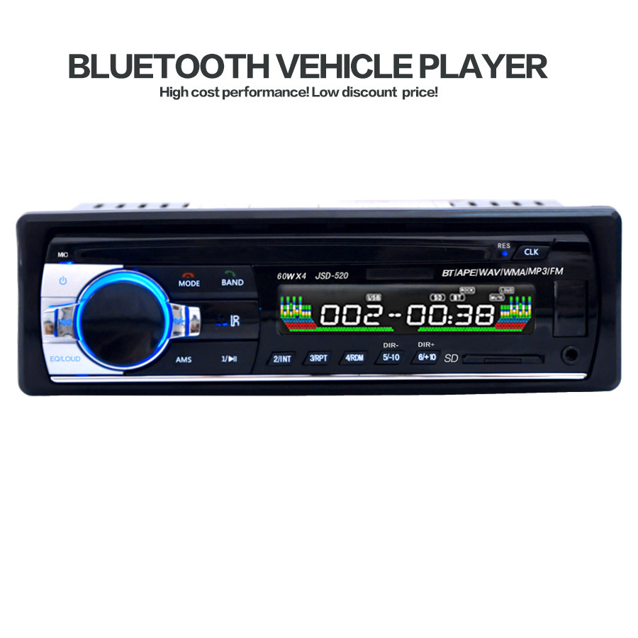 Resolution Car Radios Stereo Player Bluetooth AUX-IN MP3 FM Transmitter USB Remote Control For Phone 12V Audio Auto(China (Mainland))