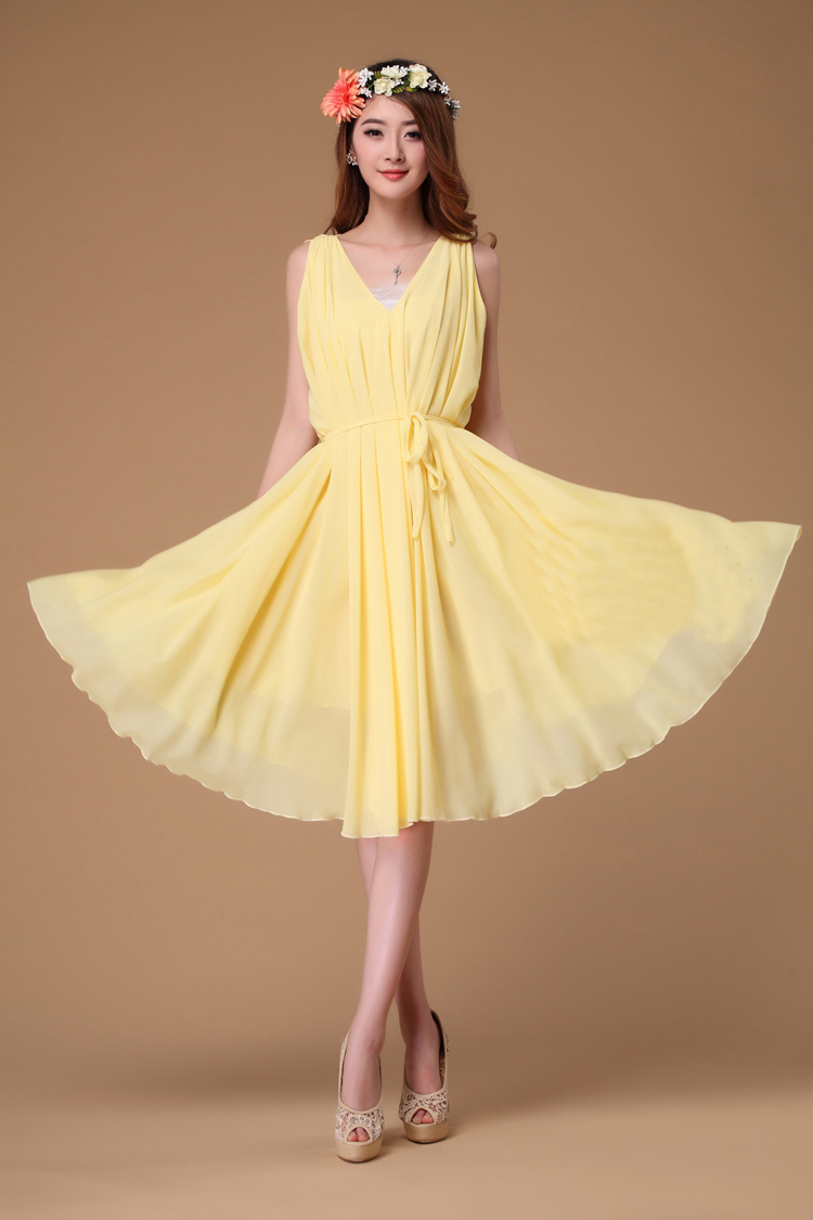 Yellow dress for summer wedding dress online uk for Yellow dresses for weddings