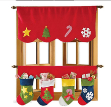 Up and Down Christmas Decorative Door Window & Cute Christmas Stocking Socks #5(China (Mainland))