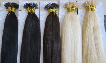 """Новых женщин 22 """" реми плоской головкой кератин U-Tip ногтей прямо выдвижение человеческих волос 100 Strands 100 г 1 г/локон больше цвета"""