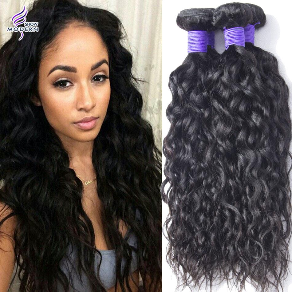 7A Grade Brazilian Virgin Hair Water Wave Queen Hair Products Brazilian Natural Wave Wavy Human Hair Weave Bundles 3pcs Lot New<br><br>Aliexpress