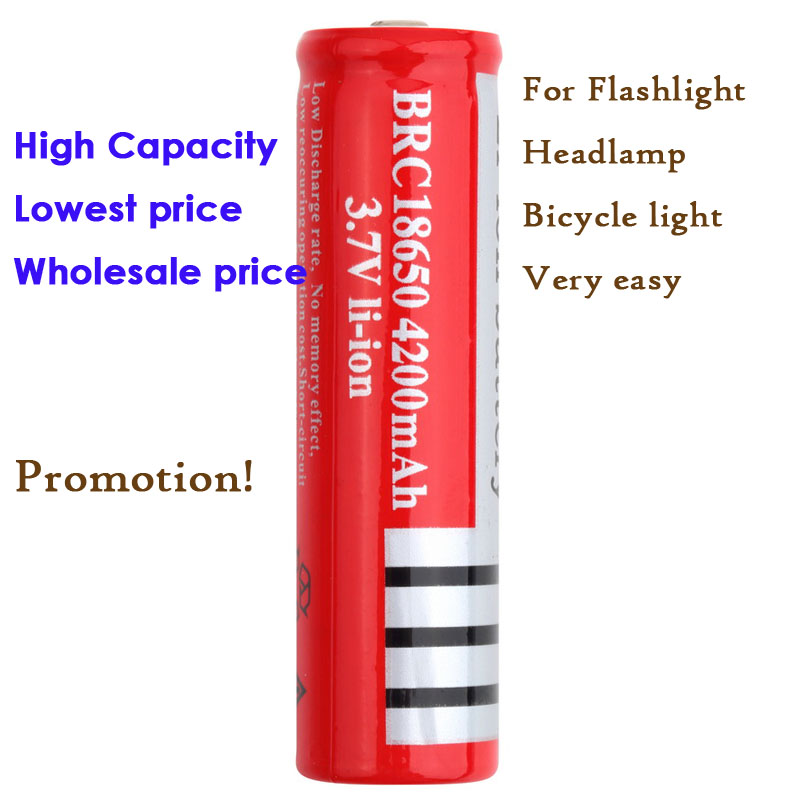 Promotion! 1pc High Quality 18650 3.7V Rechargeable Li-ion Battery for LED Flashlight Wholesale price Better Quality Than others<br><br>Aliexpress