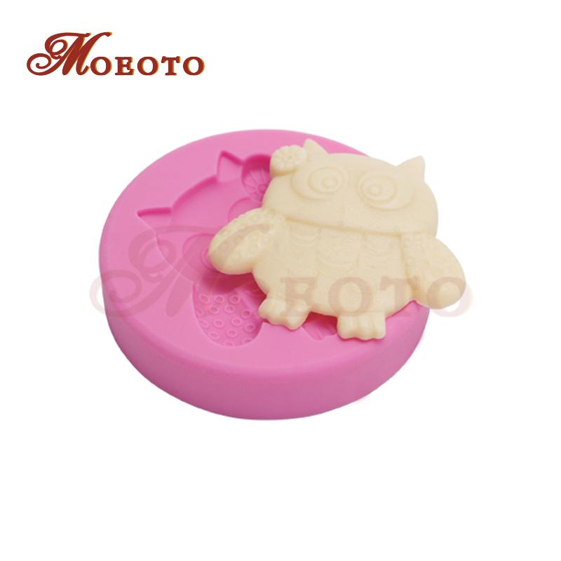 New fondant cake silicone mold,owl sugarcraft cupcake moulds,cake decorating tools mold,cake supplies, free shipping SM-805(China (Mainland))