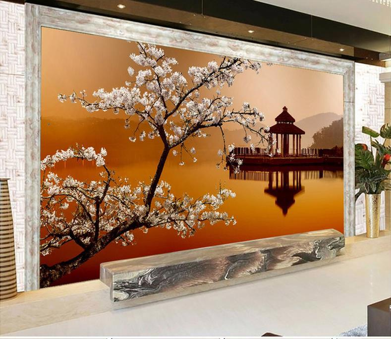 3d wall murals wallpaper photo hd beautiful natural landscape mural. Black Bedroom Furniture Sets. Home Design Ideas