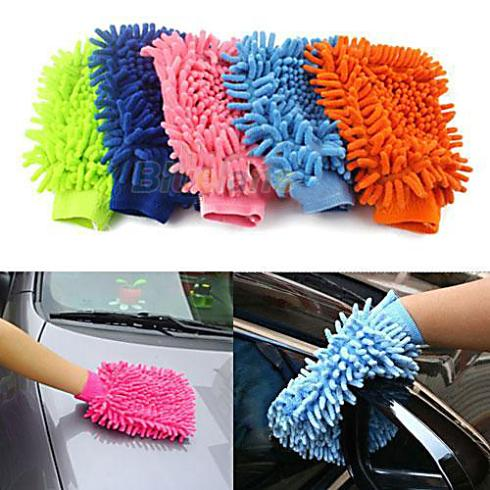 Super Mitt Microfiber Car Wash Washing Cleaning Gloves Car Washer Wholesale 1FHP(China (Mainland))