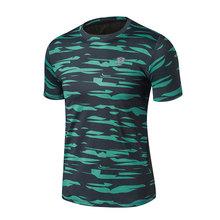 FANNAI 남자 스포츠 러닝 T 셔츠 위장 운동복 짧은 소매 휘트니스 체육관 셔츠 빠른 건조 농구 훈련 T 셔츠(China)