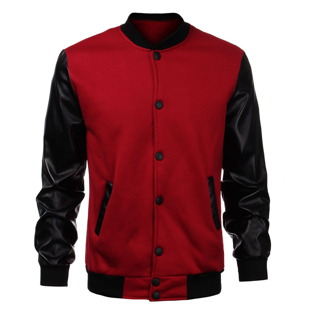Popular Mens Black Leather Bomber Jackets-Buy Cheap Mens Black ...