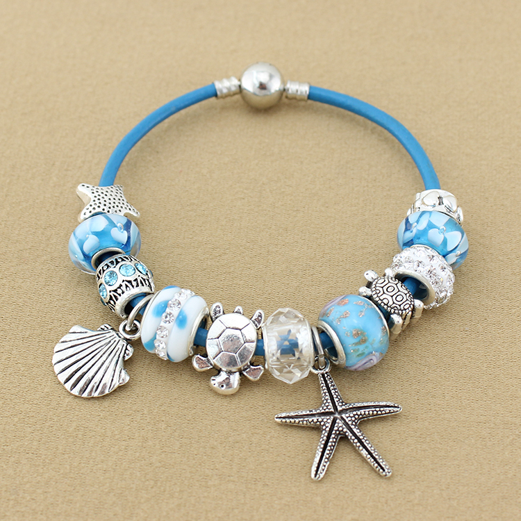 fashion jewelry starfish charm bracelets bangles murano
