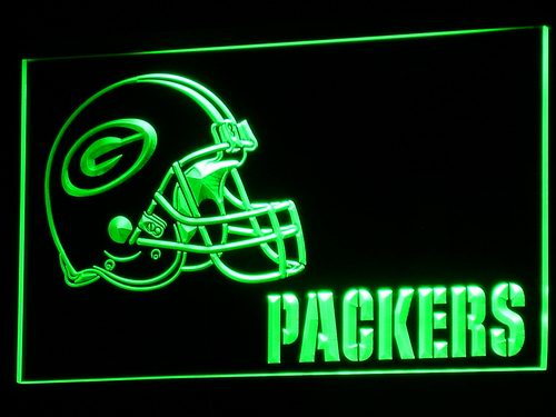 b320 Green Bay Packers Helmet NR LED Neon Light Signs Wholesale Dropshipping On/ Off Switch 7 colors DHL(China (Mainland))