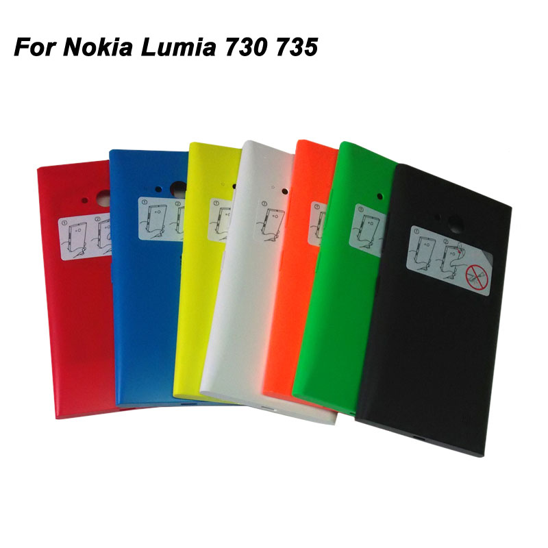 Mobile Phone Housing For Nokia Lumia 730 Battery Cover Case Back Housing For Microsoft Lumia 735 100% Brand New In Stock(China (Mainland))