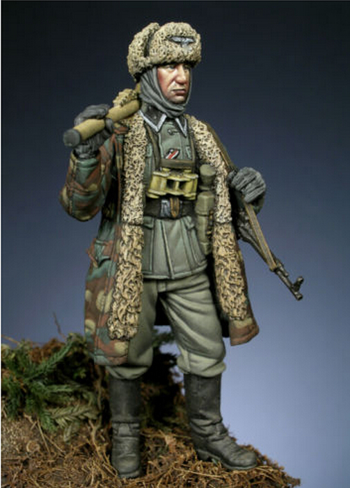 Resin Models 1/35 SS With 2 Heads Resin Soldier Free Shipping(China (Mainland))