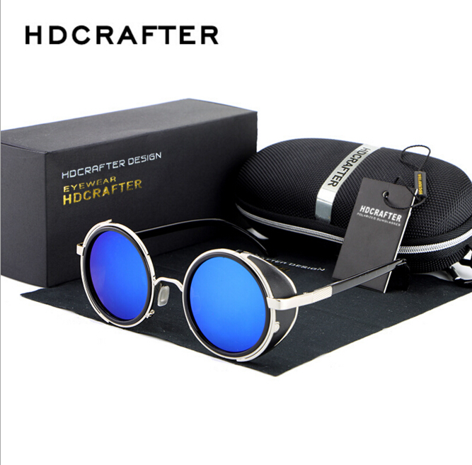 New Fashion Men Sunglasses Brand Designer Round shaped Cortex Sunglasses Aviator Unisex Vintage(China (Mainland))