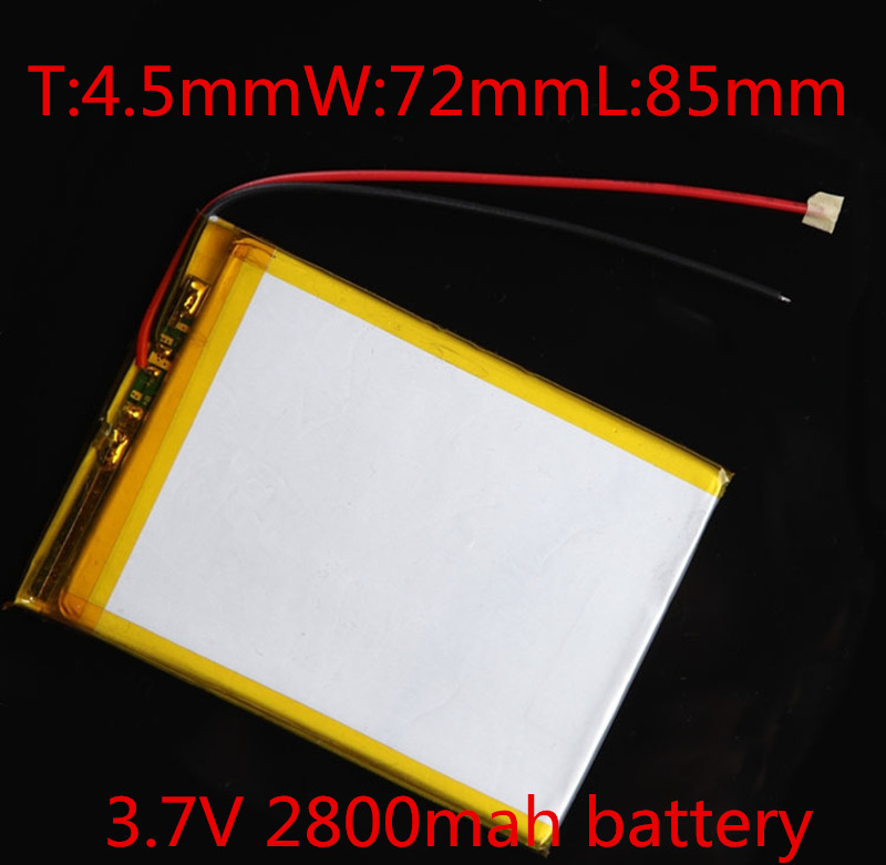 100% brand battery 3.7V 2800mah Rechargeable battery 457285 Lithium ion battery(China (Mainland))