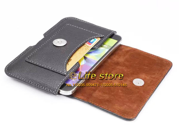 Universal Dual Card Slot Mobile Phone Leather Case Belt Clip Case For Asus Zenfone 2 Laser ZE550KL Zenfone Max ZC550KL(China (Mainland))