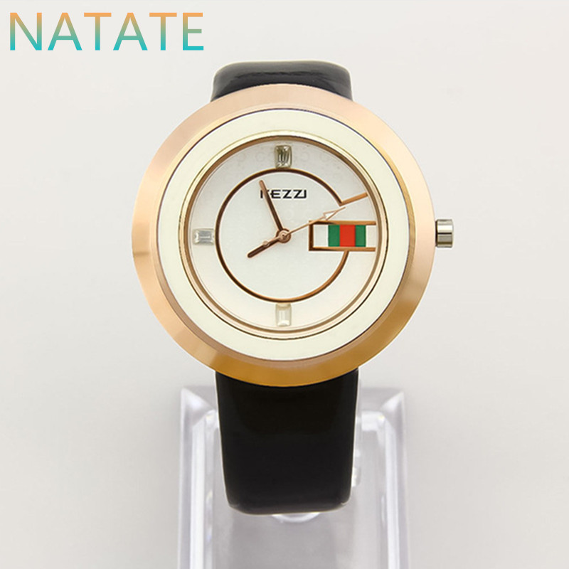 NATATE Women Business Watch Kezzi Luxury Brand Quartz Wristwatches Waterproof Leather Strap Watches Ladies Designer Watch 0940(China (Mainland))