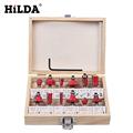 HILDA 12Pcs Milling Cutter 8 MM Router Bit Set Wood Cutter Straight Shank Carbide Cutting Tools