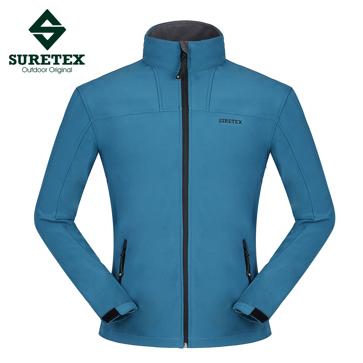 Male outdoor clothing fleece windproof water-proof free breathing soft shell plus size cardigan thickening - Famous brand Co. Ltd. store