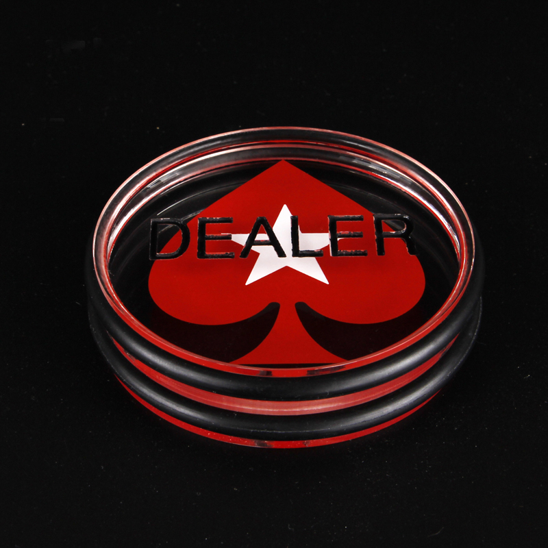 Baccarat Gambling 1PC 3inch Acrylic Pressing Texas Holdem Poker Cards Guard poker dealer button Acrylic Hearts rubber ring(China (Mainland))