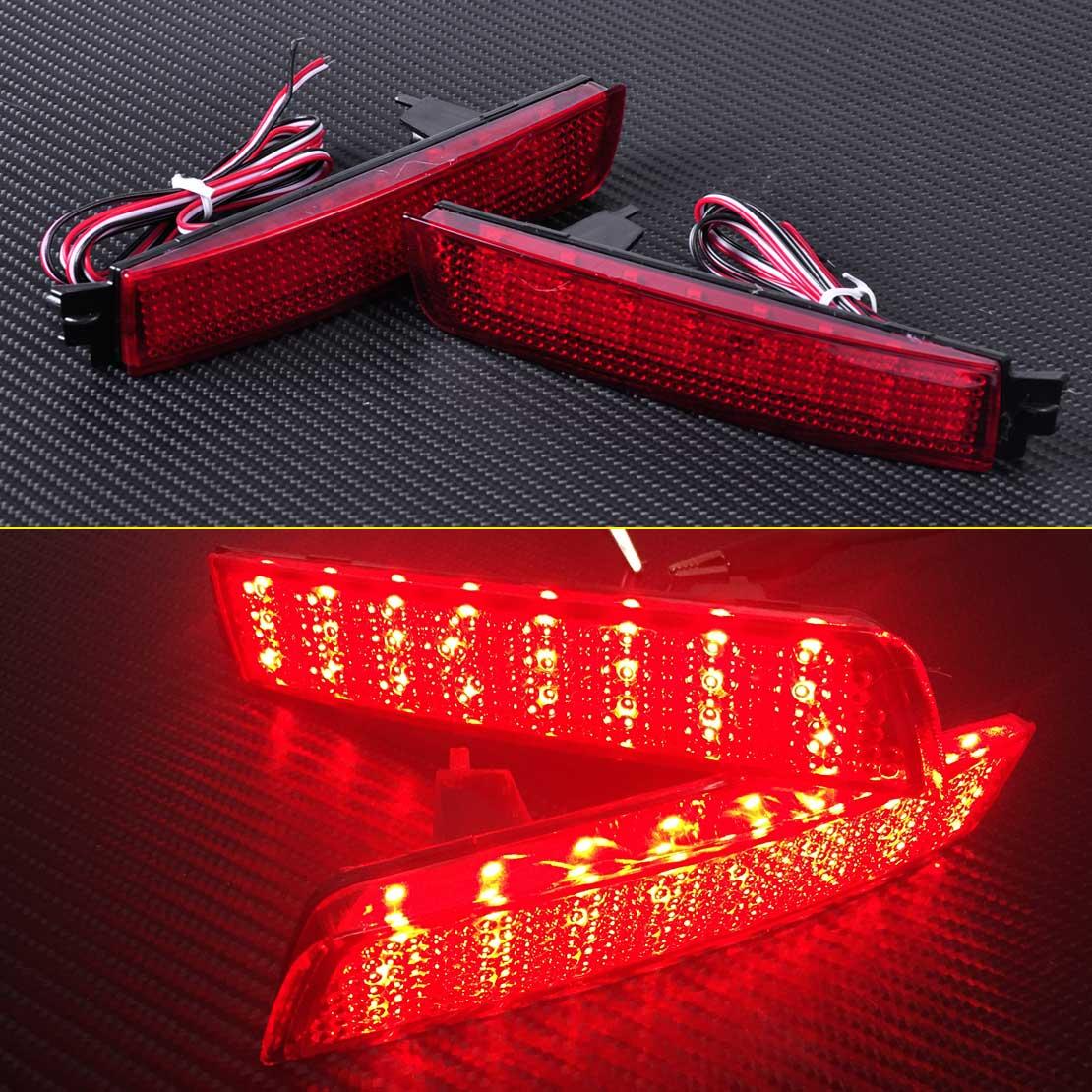 New Red Lens LED Bumper Reflector Rear Tail Brake Light