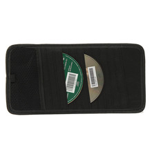 High Quality 12 Disc Capacity CD Car Sun Visor Storage DVD Holder Black for Pocket(China (Mainland))