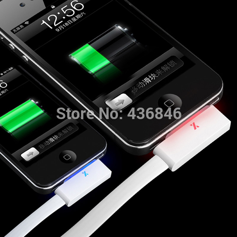 Colorful Fast Speed Flash Smart LED 30pin USB Data Sync Charging Charger Cable iPhone 4 4S 3GS Cord - ZYH e-Digital Store store