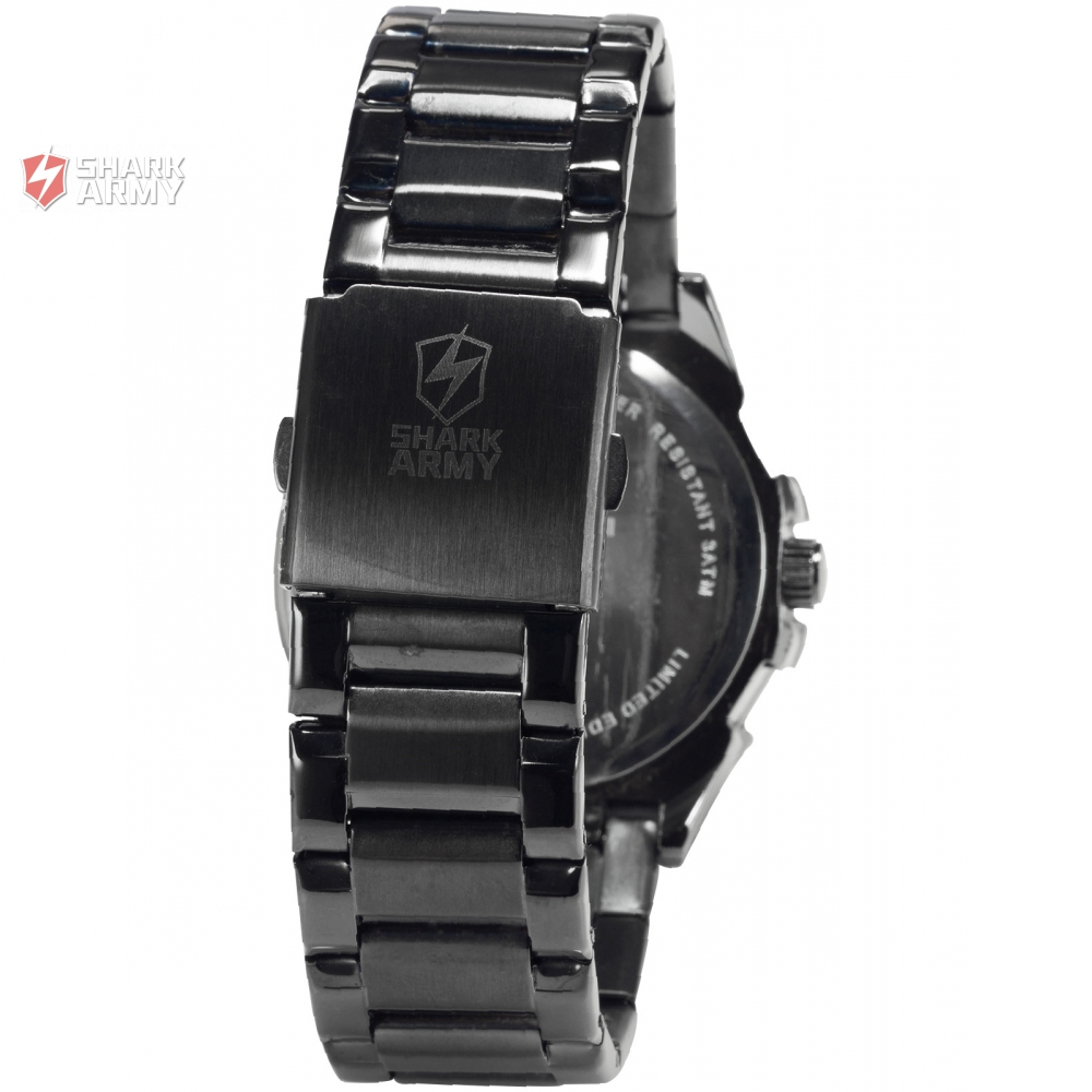 buy shark army men military black yellow dial auto date display montre homme. Black Bedroom Furniture Sets. Home Design Ideas