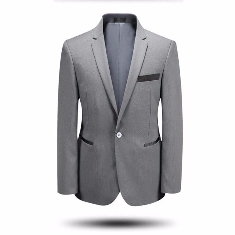 4.1Latest design men suits jacket tailor made groom wedding tuxedos jacket pure color formal business suits jacket